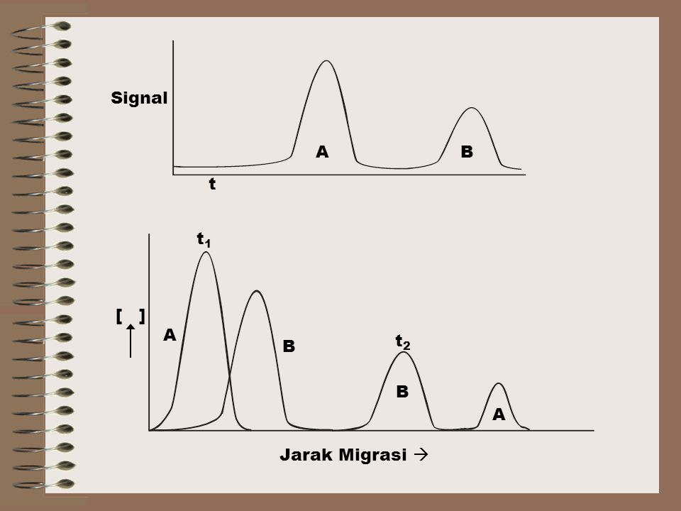 Signal t A B A B Jarak Migrasi  [ ] t1 t2